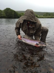 Martin Moran returns a fish to the Scap July 2016